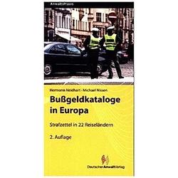 Bußgeldkataloge in Europa. Michael Nissen  Hermann Neidhart  - Buch