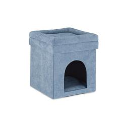 relaxdays Katzenliege Katzenhöhle Hocker in Grau
