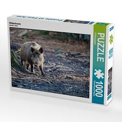 Wildschwein Lege-Größe 64 x 48 cm Foto-Puzzle Bild von Christian Haidl Puzzle