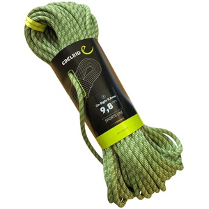 EDELRID Kletterseil On Sight 9,8 mm (dynamisches Einfachseil), Länge:40 Meter, Farbe:Green