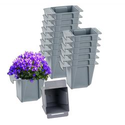 BigDean Blumenkasten Pflanzkasten Palette Mini Kunststoff Paletten Pflanzkübel Palettenkasten Palettenpflanzkasten (16 Stück)