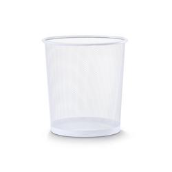 Zeller Present Papierkorb Papierkorb, Mesh, weiß, Ø26 x 28 cm