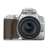 Canon EOS 250D braun + EF-S 18-55 mm F4,0-5,6 IS STM silber