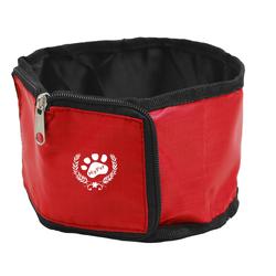 PRECORN Reisenapf Polyester Hundenapf für Reisen Futterbeutel für Hunde Reisenapf, Polyester