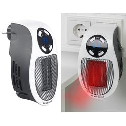 Steckdosen-Keramik-Heizlüfter mit Thermostat, Timer, Display, 500 Watt