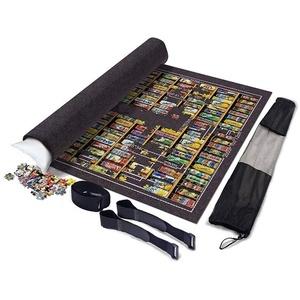 Fun-PT Roll-Puzzle-Matte Faltbare Jigroll Puzzle Lagerung Filzmatte 1000 2000 3000 Stück, großer 140 * 100cm Dicke Decke Schutzpolster Grau, beweglicher aufblasbarer Kern (Color : Dark Gray)