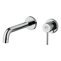 Ducati Waschtischarmatur DUCATI Wand-Waschtischarmatur mit Einhebelmischer DUCATI Waschtisch-Armatur Chrom - Einhand-Badarmatur mit Einhebelmischer - Wandmontage - für Waschbecken / Badezimmer