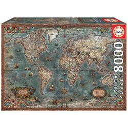 Educa Puzzle HISTORISCHE WELTKARTE, 8000 Puzzleteile