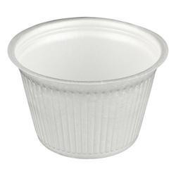 Thermobehälter rund aus EPS, weiß 500 ml, 50 Stk.