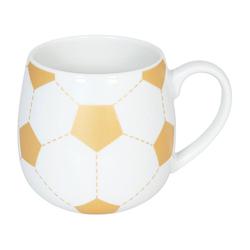 Könitz Becher Fussball Gold, Porzellan