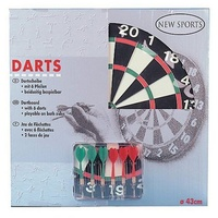 New Sports Dartboard inkl. 6Pfeilen