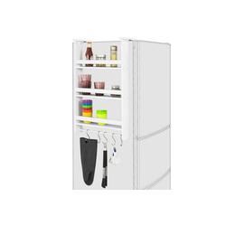 SoBuy Hängeregal FRG150, für Kühlschrank mit 5 Haken Küchenregal Gewürzregale weiß 44.5 cm x 74 cm x 20 cm