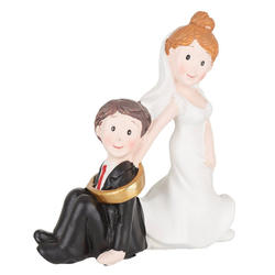 HobbyFun Dekofigur Hochzeitspaar, 7,5 x 8 cm