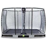 EXIT TOYS Elegant Premium Inground-Trampolin 244 x 427 cm inkl. Deluxe Sicherheitsnetz grau