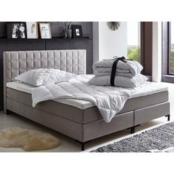Places of Style Boxspringbett Salvo, mit Bettware-Set und Topper 140 cm x 210 cm