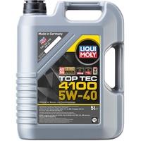 Liqui Moly 3701 Top Tec 4100 Motoröl, 5W-40, 5 L & Original MANN-FILTER Ölfilter mit Dichtring, 1 Stück