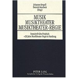 Musik - Musiktheater - Musiktheater-Regie - Buch