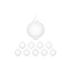 relaxdays LED Lampion LED Lampions weiß 10 Stück
