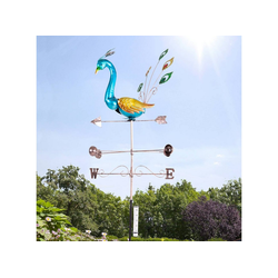 aktivshop Gartenfigur Wetterfahne Pfau