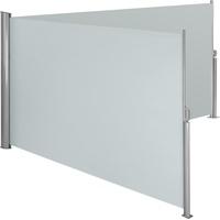 Tectake Aluminium Doppel Seitenmarkise grau, 200 x 600 cm