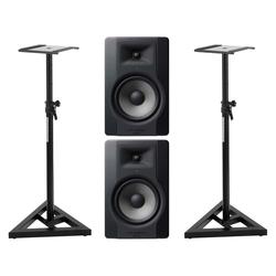 M-Audio BX8 D3 Studiomonitor Stativ Set