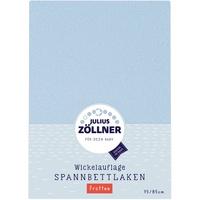 Julius Zöllner Frotteebezug für Wickelauflage hellblau 75 x 85 cm