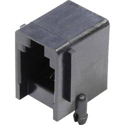 Econ Connect Modular-Einbaubuchse Buchse, Einbau horizontal Pole: 4 MJUSE44GAB Schwarz MJUSE44GAB