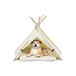 COSTWAY Tipi-Zelt Tipi Tierzelt, mit Kissen Hundezelt Katzenzelt Haustierzelt Haustierbett Hundebett Katzenbett für Haustiere