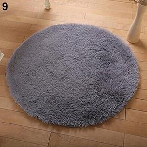 Teppiche für Heimdekoration, weich, für Badezimmer, Schlafzimmer, rutschfeste Bodendusche, Yoga, Plüsch, runde Matte, perfekte Wahl für Heimdekoration, 9, 40cm*40cm