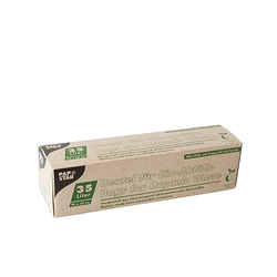 Kompostbeutel aus Bio-Folie 35L 70 cm x 55 cm grün mit Tragegriff, 5 Stk.