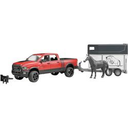 Bruder 02501 RAM 2500 Power Wagon mit Pferdeanhänger und 1 Pferd
