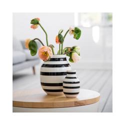 Kähler Tischvase Vase Omaggio M schwarz-weiß