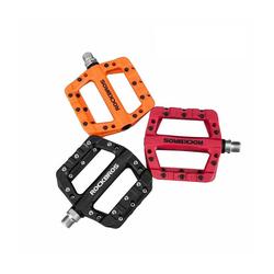 ROCKBROS Fahrradpedale Fahrradpedale Nylon Composite Flatpedale 9/16 Mountain Bike MTB Pedalen, Color schwarz
