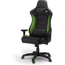 Bürostuhl Garry Gamer Stuhl schwarz + grün Schreibtisch Drehstuhl Chef Sessel