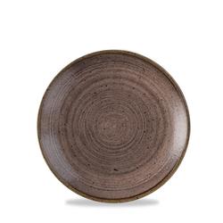 12 x Teller rund 16,5cm STONECAST RAW Brown
