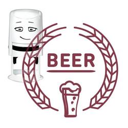 NIO Stempelmotiv - beer-Vintage label