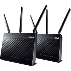 Asus RT-AC68U AC1900 WLAN Router mit Modem 2.4GHz, 5GHz