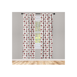 Gardine Vorhang für Wohnzimmer Schlafzimmer Dekor, Abakuhaus, Blumen Brautsträuße Rosen 150 cm x 225 cm