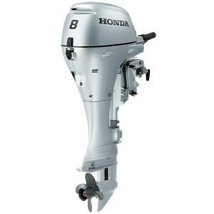 Honda Marine Außenbordmotor BF 8 SHSU  (5,9 kW, Pinnengriff, Schaftlänge: 433 mm, Elektrostart) + BAUHAUS Garantie 5 Jahre auf elektro- oder motorbetriebene Geräte