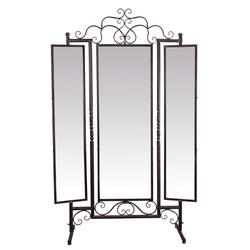 Casa Padrino Jugendstil Standspiegel Braun 129,5 x 40 x H. 204 cm - Barock & Jugendstil Möbel