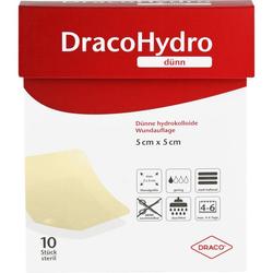 DRACOHYDRO dünn Hydrokoll.Wundauflage 5x5 cm 10 St.