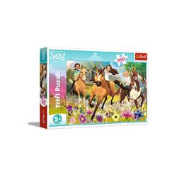 Trefl GmbH Puzzle Trefl 16362 - DreamWorks: Spirit, 100 Teile Puzzle, 100 Puzzleteile