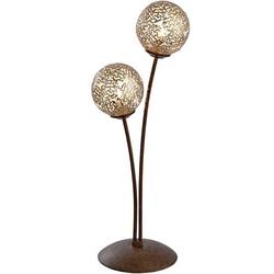 Paul Neuhaus GRETA 4032-48 Tischlampe LED, Halogen G9 80W Rost, Gold