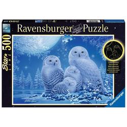 Ravensburger Puzzle 16595 Eulen im Mondschein 500 Teile Puzzle, Puzzleteile bunt