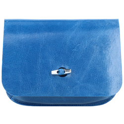 b.belt Gürteltasche Leder 17 cm blau