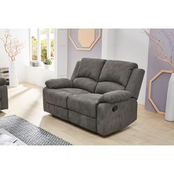 2er Sofa in anthrazitfarbenem Stoff bezogen mit Liegefunktion, Maße: B/H/T ca. 148/97/87 cm