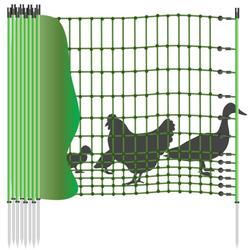 Hühnernetz »Euronetz« KEIN Elektrozaun · 25m 1 Spitze, 112cm