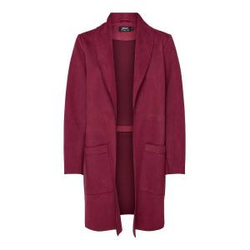 ONLY Wildlederimitat Mantel Damen Rot Female L