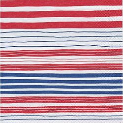 """Papierservietten """"Streifen"""", 33 x 33 cm, 20 Stück"""