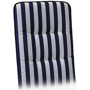 Niederlehner-Auflage Basic-Line 100 x 50 x 6 cm Blau-Weiß D.0268